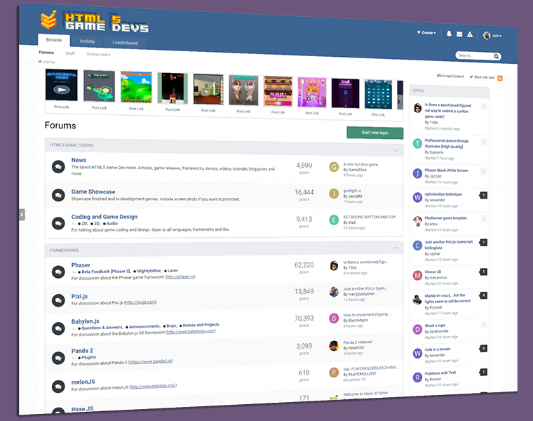 Phaser News Phaser In And Beyond A Look Back At The News - Game design forum