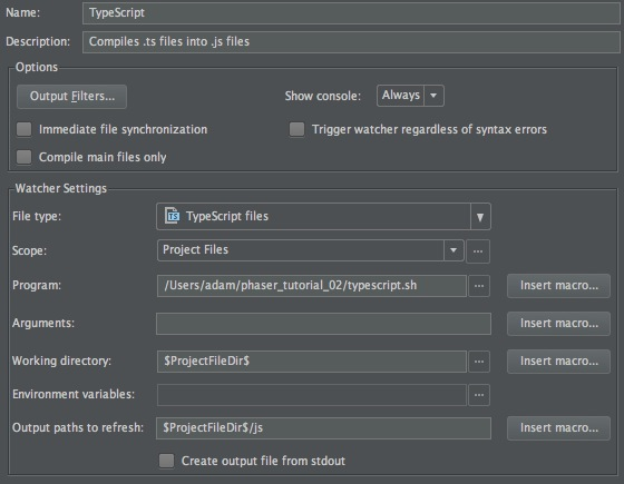 Phaser - News - Set Phasers to TypeScript!: How to set-up