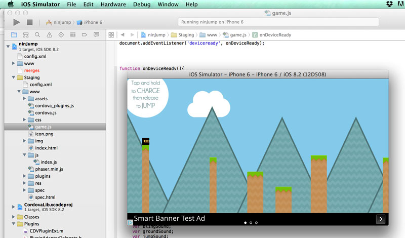 Phaser - News - Using AdMob in your iOS Games: A complete visual