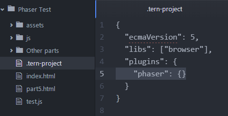Phaser - News - Atom and Tern Guide: Auto Completion in Atom
