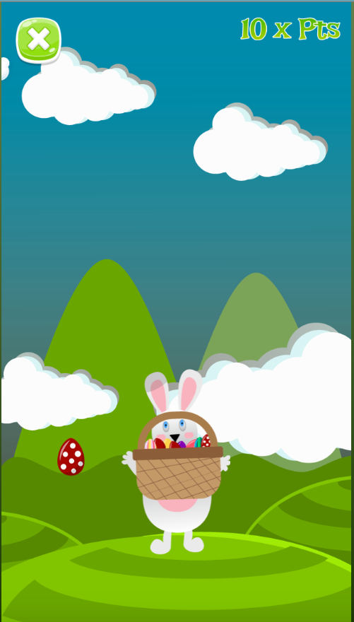 Phaser - News - Funny Bunny: Catch the falling eggs in a