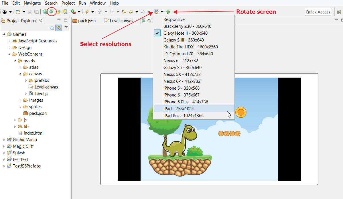 Phaser - News - Phaser Editor 1 4 3: A new edition of Phaser
