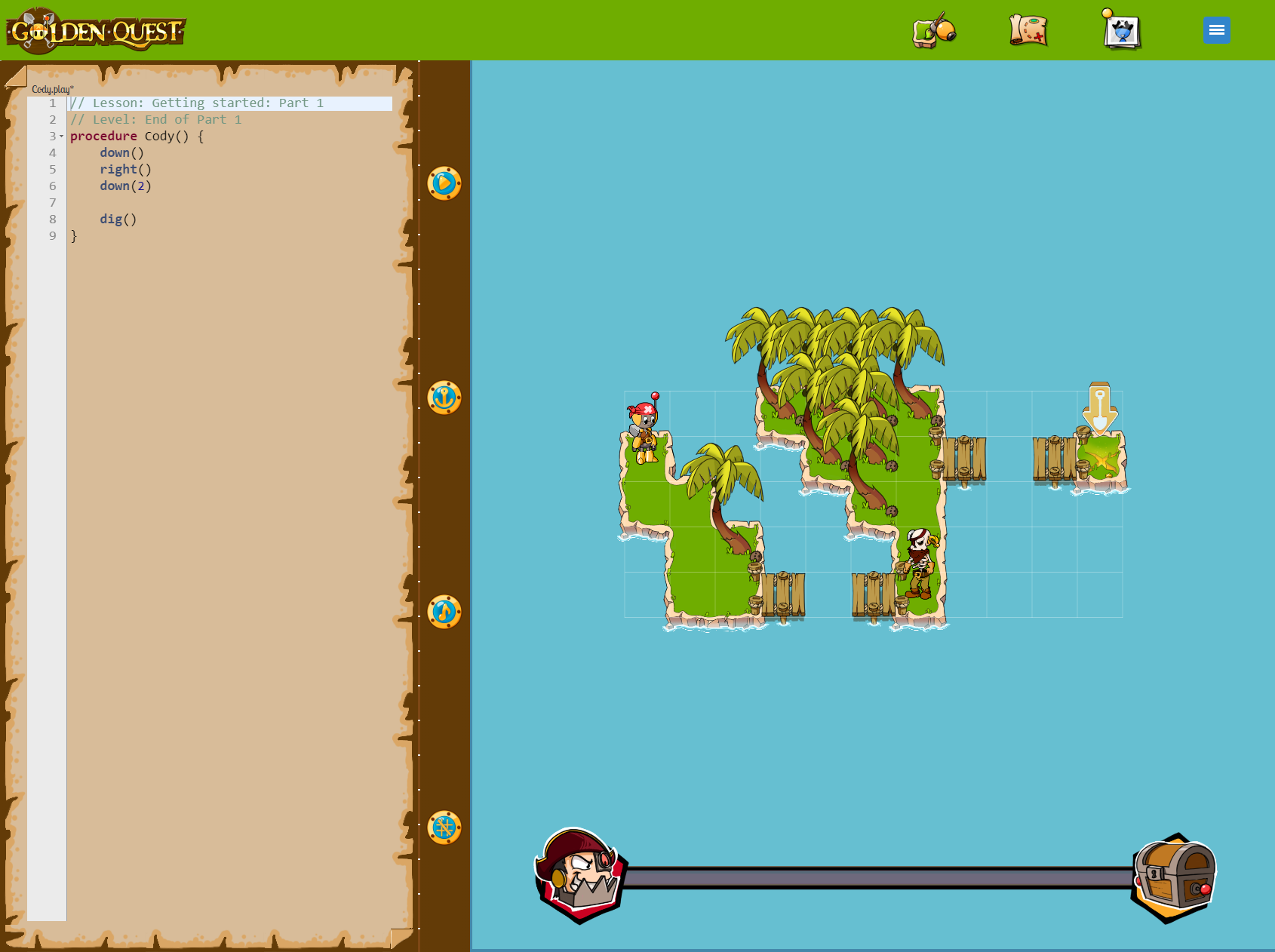 Phaser - News - Golden Quest: Take to the high seas, visit islands